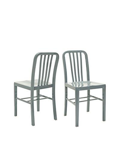 Safavieh Set of 2 Polaris Side Chair, Grey