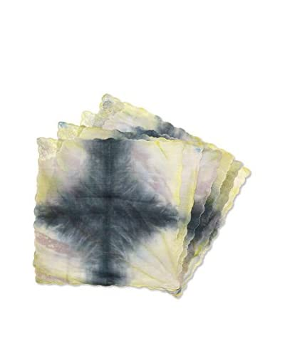 Uptown Down Set of 6 One-of-a-Kind Hand-Dyed Napkins