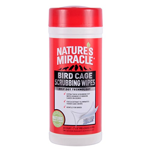 natures-miracle-30-count-bird-cage-scrubbing-wipes