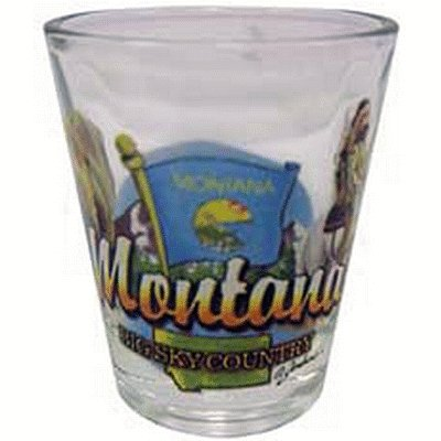 Montana Big Sky Country State Elements Shot Glass