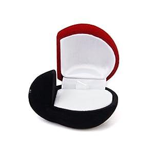 Bo Te Bijoux Bague Boucle D 39 Oreille Pr Sentoir Coffret Cadeau Forme De Coccinelle Rouge Et