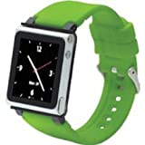 iWatchz CLRCHR22GRN Q Collection Wrist Strap for iPod Nano 6G, Green