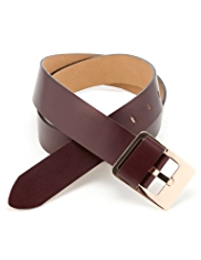 Autograph Coated Leather Keeper Buckle Belt