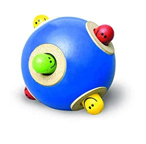 Wonderworld Peek-a-boo Ball. Rubberwood, Non-toxic, Rolling, Toys, Multi-color, Popping from Smart Gear