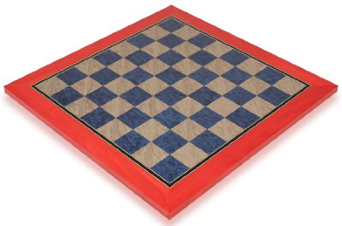 """Civil War Blue & Gray High Gloss Deluxe Chess Board - 1.75"""" Squares"""