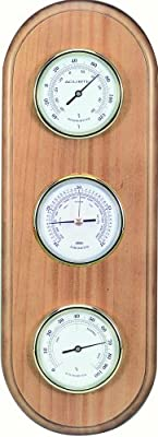 Chaney Instrument Oak Finished Weather Station by Chaney Instruments