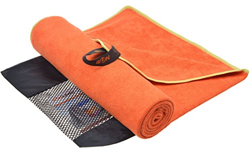 Sinland Ultra Absorbent Travel Towels Fast Drying Microfiber Sports Towel Bath Gym Towels (orange 32inchx60inch) Athletic Bath