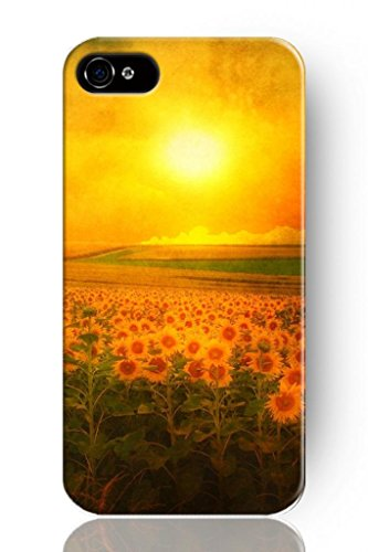 Sprawl New Fashion Design Hard Skin Case Cover Shell For Mobile Phone Apple Iphone 5 5S--Sunflower Sea front-1033374