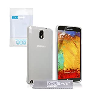 Yousave Samsung Galaxy Note 3 Case Clear Silicone Gel Cover