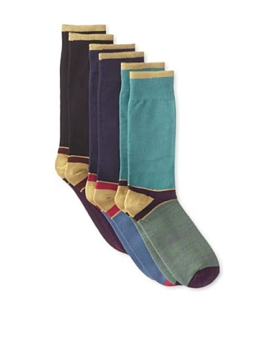 Florsheim by Duckie Brown Men's Colorblock Socks - 3 Pack