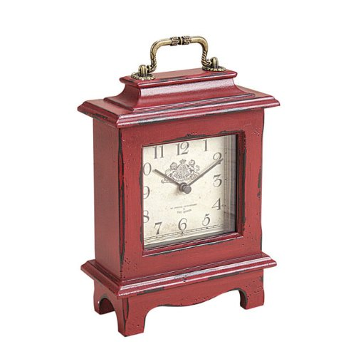 Red Wood Mantle Clock