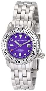 Momentum Women's 1M-DV83P0 Storm II Purple Dial Steel Bracelet Watch