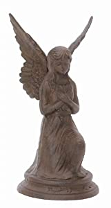 Cast Iron Kneeling Angel Garden Statue Cherub Fairy