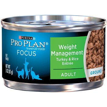 Pro Plan Extra Care Weight Management Formula Turkey And Rice Canned Cat Food