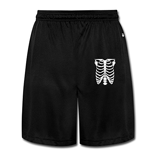 RONG HI Halloween Skeleton Glow In The Dark Boy Short Jeans Joggers