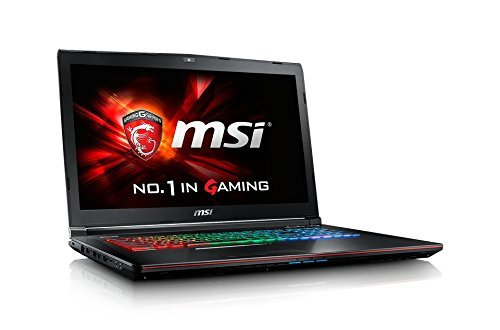 MSI GE72 6QD-033UK Apache Pro 17.3-Inch Gaming Laptop (Intel Core i7-6700HQ 2.60 GHz, 8 GB RAM, 1 TB HDD, Nvidia GeForce GTX 960M, Windows 10)