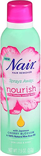 Nair Hair Remover Sprays Away Nourish Legs & Body 7.5 oz (Pack of 12)