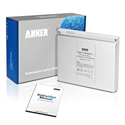 Anker Laptop Replacement Battery Pack [Li-Polymer 5600mAh] for Apple A1150 (Early 2006), A1211 (Late 2006), A1226 (Mid, Late 2007), A1260 (Early 2008) MacBook Pro 15\