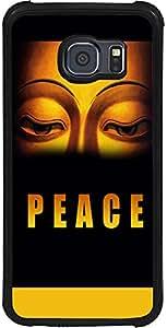 PrintVisa 2D-SGS6-D8082 Religious Buddha Peace Case Cover for Samsung Galaxy S6 (SM-G920i)