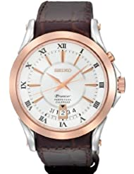 Seiko Premier Rose Gold-tone Mens Watch Snq126