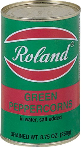 Roland Green Peppercorns In Water, Salt Added, 8.75-Ounce Can (Pack of 4)