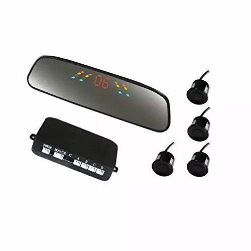 Goliton-arrire-de-voiture-rtroviseur-LCD-inverser-systme-de-stationnementKit-Radars-de-reculsauvegarde-avec-4-capteurs