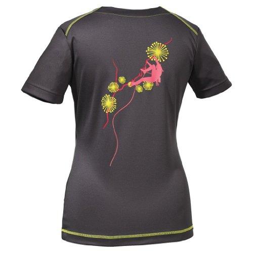 Jack Wolfskin Damen Shirt Coolmax Print T Women, Dark Steel, XXL, 1802371-6032006