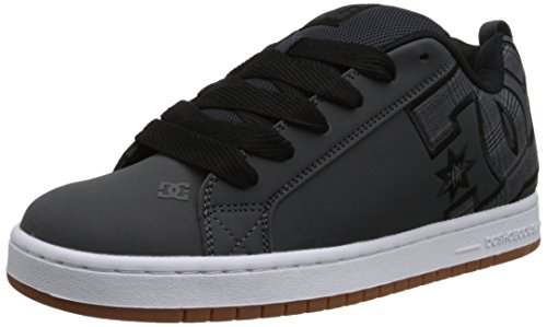 DC Men's Court Graffik SE Skate Shoe, Grey/Black, 9 M US