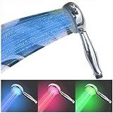 SODIAL(TM) Pomme de douche š€ LED En couleur variable en fonction du changement de la temperature d'eau