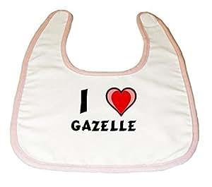Amazon.com: Baby Bib with I Love Gazelle (first name/surname/nickname