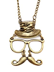 Hipster Necklace Mustache Necklace Hipster
