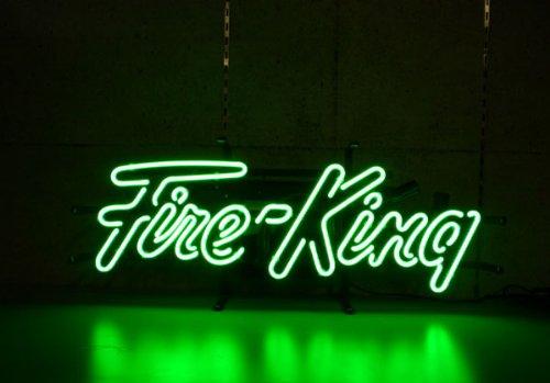 FIRE KING GREEN NEON SIGN / ファイヤーキング グリーン ネオンサイン