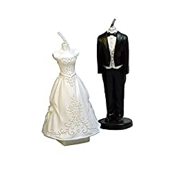GranVela 2 Pice Creative Bride and Groom Smokeless Candles,Cake Decorating and Party Supplies, Charming Gifts