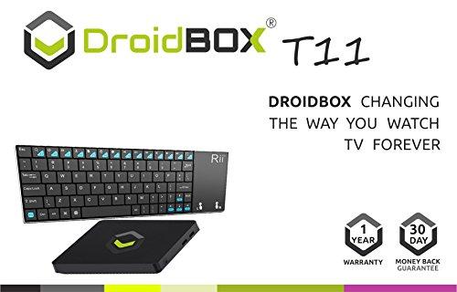 DroidBOX T11 with i12 Key Windows 10 Mini PC Media Center Intel Atom X5 Z8300 64bit Quad Core 1.83ghz CPU 2GB 32GB 4K HDMI/VGA 2.5' SSD HDD expandable