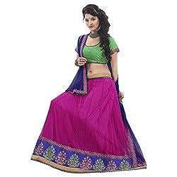 Aagaman Fashions Brocade Lehenga Choli (TSSURG2001_Green)