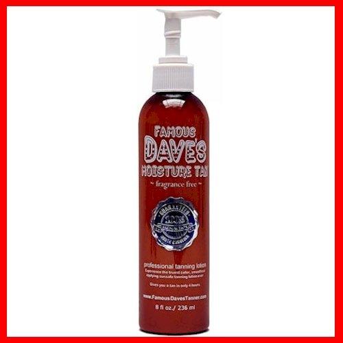 Famous Dave's Moisture Tan *15,000 TESTIMONIALS* Self Tanner 8 fl oz. Professional Tanning Lotion