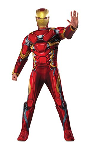 Men's Deluxe Muscle Chest Iron Man Costume - XL or Standard