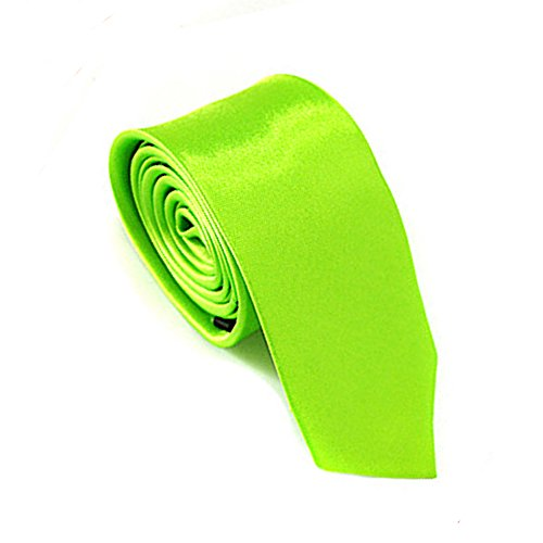 Mens Neckties Fomal Ties Multicolor Ties Business Ties Plain Colour Ties Neon Green (Neon Color Neck Ties compare prices)