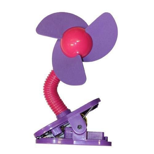 Tee-Zed T01 Clip-On Fan Great for the Beach, Pool, Camping, Work, Lounging or Just Chillin'! -Pink Purple (Foam Clip On Fan compare prices)