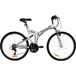 "Stowabike 26"" Folding Dual Suspension Mountain Bike 18 Speed Shimano Bicycle by Stowabike"