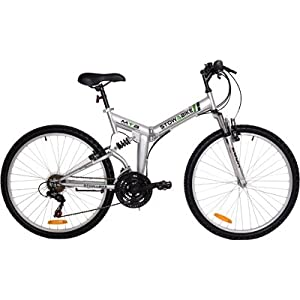 "Amazon.com : Stowabike 26"" Folding Dual Suspension Mountain Bike 18"