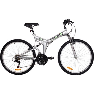 "Great Features Of Stowabike 26"" Folding Dual Suspension Mountain Bike 18 Speed Shimano Bicycle"