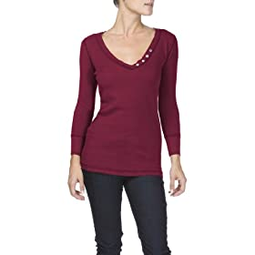 Michael Stars Waffle Thermal V-Neck Mock Henley