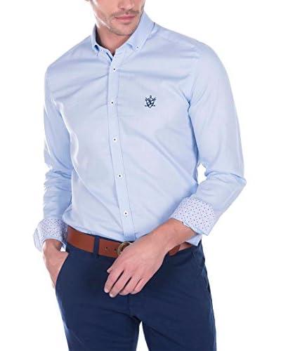 SIR RAYMOND TAILOR Camisa Hombre Bite Azul