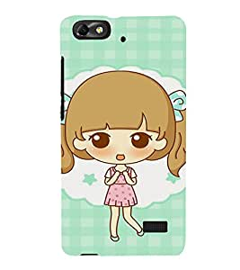 EPICCASE Excited Little Girl Mobile Back Case Cover For Xiaomi Redmi Mi4c (Designer Case)