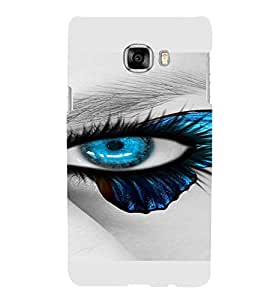 PrintVisa Blue Eyes Design 3D Hard Polycarbonate Designer Back Case Cover for Samsung C7