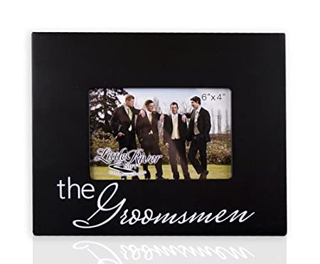 Little River Gift The Groomsmen Picture Frame, 10 by 8-Inch, Holds 6 by 4-Inch Photo
