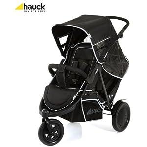 hauck schwarz freerider tandem doppel kinderwagen buggy 3. Black Bedroom Furniture Sets. Home Design Ideas