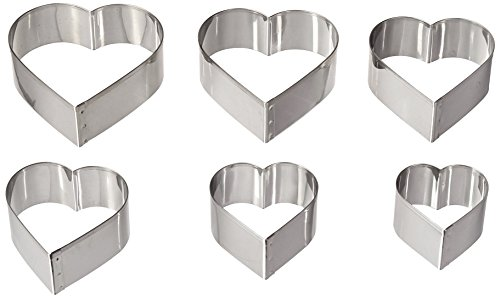 Ateco Graduated Heart Cookie Cutters, Set of 6 (Heart Cutters compare prices)