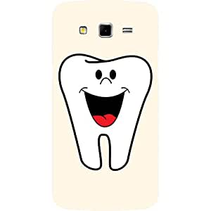 Casotec Smiling Tooth Design Hard Back Case Cover for Samsung Galaxy Grand 2 G7102 / G7105